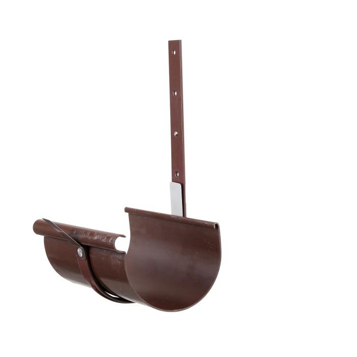 Універсальний кронштейн жолоба металевий коричневий Ø130 мм