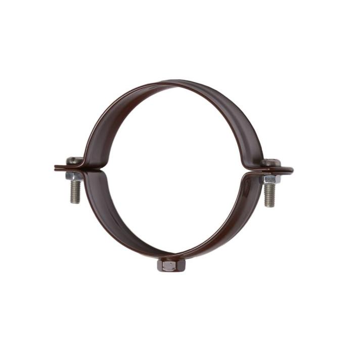 Хомут для труб 90 мм, коричневий