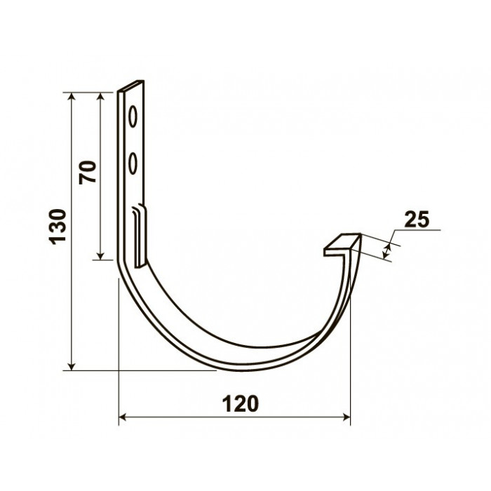 """Тримач жолоба М2, 2.5 мм, коричневий (для """"Docke"""")"""