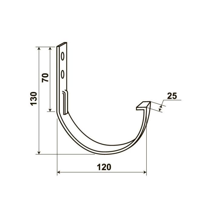 """Тримач жолоба М2, 2.5 мм, білий (для """"Docke"""")"""
